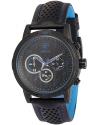 Men's Analog Quartz Chronograph Black Leather Band Wrist Watch