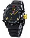 Men's LED Date Day Digital Black Dial Sport Amry Quartz Wrist Watch