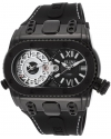 Men's Genesis World Swiss Quartz Stainless Steel and Silicone Casual Watch Color Black