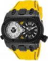 Men's Genesis World Swiss Quartz Stainless Steel And Silicone Casual Watch Color Yellow