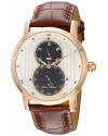 Men's Infinity Quartz Stainless Steel and Leather Automatic Watch