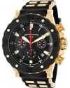 Men's Hunter Quartz Stainless Steel and Silicone Casual Watch, Black