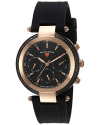 Women's Madison Quartz Stainless Steel and Silicone Casual Watch, Black