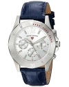 Women's Paradiso Quartz Stainless Steel and Leather Casual Watch, Blue