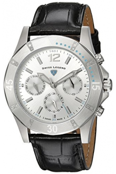 Women's Paradiso Quartz Stainless Steel and Leather Casual Watch, Black