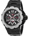 Men's Ultrasonic Quartz Stainless Steel Automatic Watch, Black