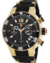 Sharkarma Chrono Black Silicone, Dial & Bezel Gold-Tone Ss Watch