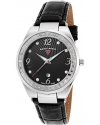 Women's Passionata Quartz Stainless Steel and Leather Automatic Watch, Black