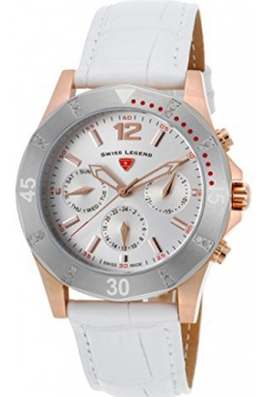 Women's Paradiso Quartz Stainless Steel and Leather Casual Watch, White