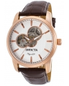 Men's Objet d'Art Automatic Stainless Steel and Leather Casual Watch, Brown