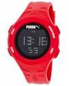 Loop Chronograph Digital Red Silicone Watch Unisex