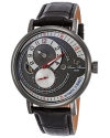 Supernova Regulator Auto Black Leather Charcoal Dial Gunmetal Ip Ss Watch