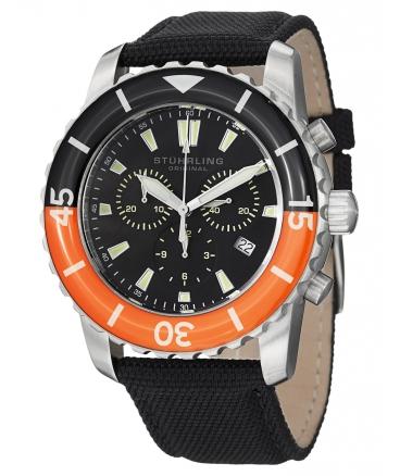Men's Aquadiver Felucca Analog Display Swiss Quartz Black Watch