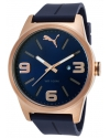 Men's Navy Blue Silicone Blue Dial