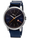 Men's Liberated Quartz Stainless Steel and Nylon Casual Watch, Blue