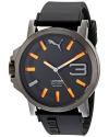 Men's Ultrasize 50 Analog Display Quartz Black Watch