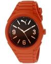Unisex Gummy fading orange Analog Display Watch