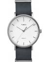 Weekender Fairfield Men's Analog Display Quartz Watch, Black Leather Band, Round 41mm Case