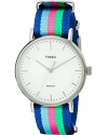 Women's Fairfield 37 Blue Pink GreenPink Green Nylon Slip-Thru Strap Watch