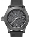 Men's Forever Gunmetal Silicone Design Watch
