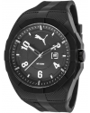 Iconic Men's Water Resistant Watch, Black, White, One Size Fits All