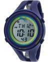 Unisex Air III Navy Blue Digital Display Quartz Blue Watch