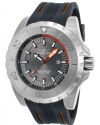 Men's Pro Diver Quartz Stainless Steel and Polyurethane Casual Watch, Grey