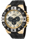 Men's Pro Diver Quartz Stainless Steel and Polyurethane Casual Watch, Black