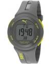 Rubber Digital Neon Accent Watch - Grey