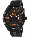 Men's Black Rubber And Dial Orange Accents Watch