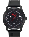 Men's Black Rubber Black Dial Watch