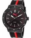 Men's Roadmap Black & Red Rubber Black Dial and Ion Plated Ss Watch