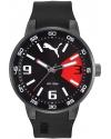 Road Precision Black Dial Black Rubber Mens Watch