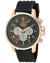 Men's S1 Rally Quartz Steel-Two-Tone and Silicone Casual Watch, Black