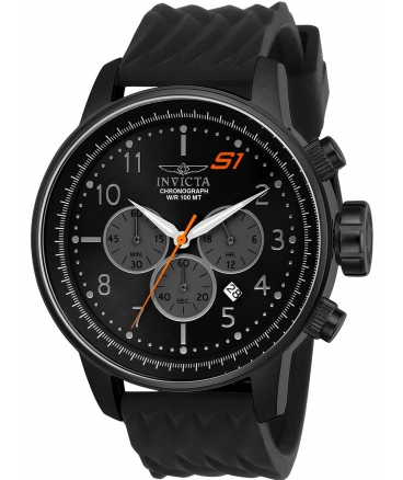 Men's S1 Rally Quartz Stainless Steel and Silicone Casual Watch, Black