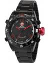 Men's LED Date Day Digital Black Red Army Sport Quartz Wrist Watch