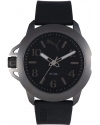 Men's Black Silicone Black Dial Watch