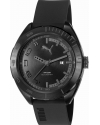 Wristwatch, Mens, Black Steel Case, Black Strap