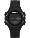 Loop Black Chronograph Digital Silicone Watch