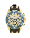 Men's 'Pro Diver' Quartz Gold and Silicone Casual Watch