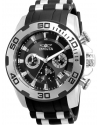 Men's Pro Diver Black Polyurethane Band Steel Case Swiss Quartz Analog Watch