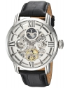 Men's Objet d'Art Automatic Stainless Steel and Leather Casual Watch
