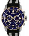 Men's Pro Diver Quartz Stainless Steel and Silicone Casual Watch,