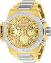 Akula Reserve Chronograph Gold Dial Mens Watch