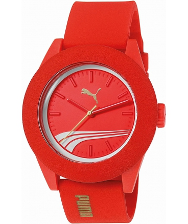 Wristwatch Red Silicone Strap