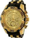 Men's Pro Diver Chronograph Gold Tone Dial Steel & Silicone Strap Watch