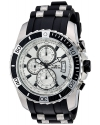 Men's Pro Diver Quartz Stainless Steel and Silicone Casual Watch