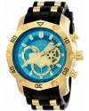 Men's Pro Diver Chronograph Blue & Gold Dial Steel & Silicone Strap Watch