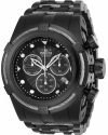 Men's Bolt Quartz Chronograph Black Dial Stainless Steel Bracelet Watch