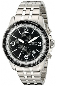 Invicta Men's 'Specialty' Quartz Stainless Steel Watch, Color:Silver-Toned (Model: 13960)